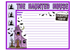 haunted house stationery set