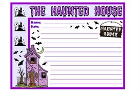haunted house stationery set