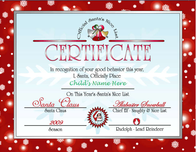 picture relating to Letter From Santa Template Printable titled Printable Letter versus Santa and Awesome Record Certification