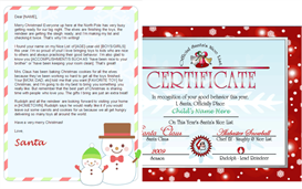 personalized santa letter and nice list certificate - snowman design