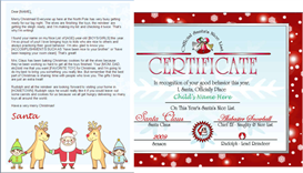 printable santa letter and nice list certificate - santa and friends