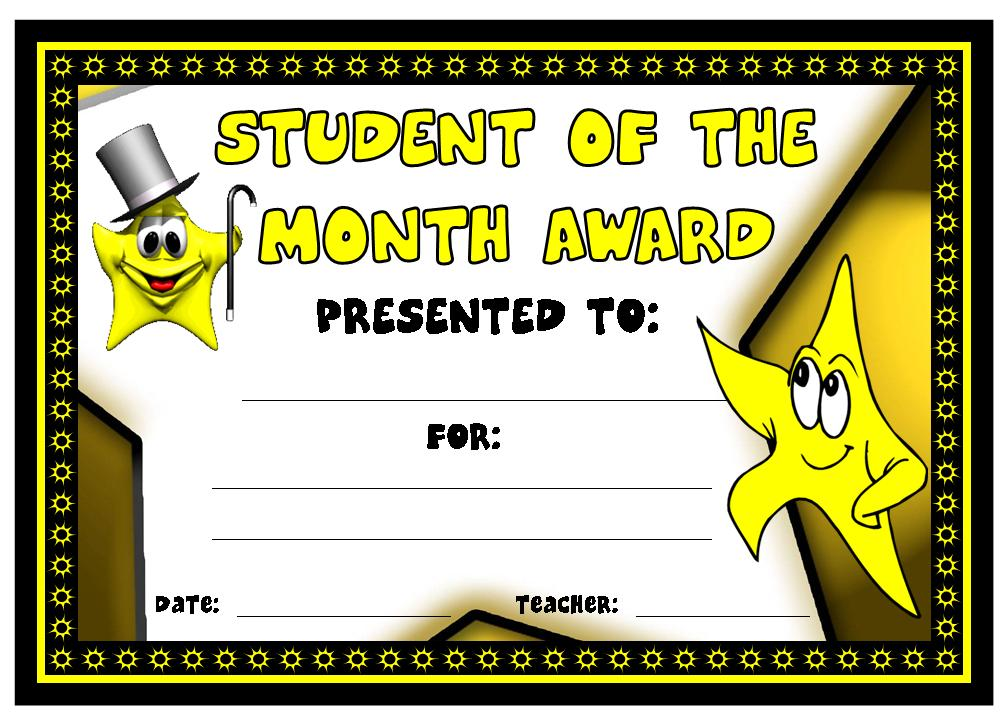 Student Of The Month Award Other Files Documents And Forms