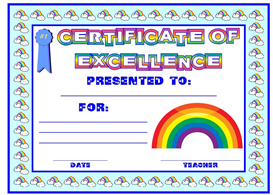certificate of excellence rainbow award