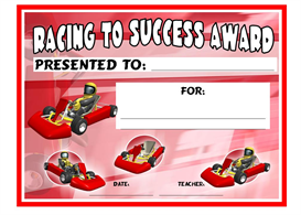 racing to success award