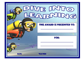 dive into learning award