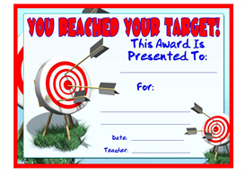 you reached your target award
