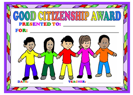 Good Citizenship Children Award | Other Files | Documents and Forms