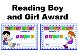 reading boy and girl award