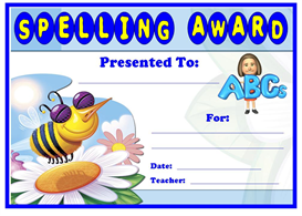 Spelling Award Certificate | Other Files | Documents and Forms