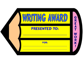 writing pencil award