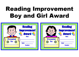 reading improvement boy and girl award