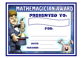 mathemagician award