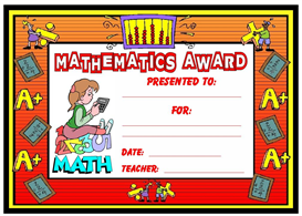 mathematics award