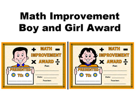 math improvement boy and girl award