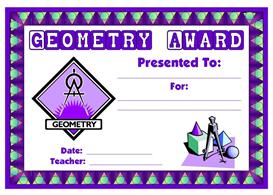 geometry award