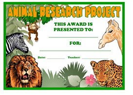 animal research project award