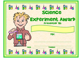 science experiment award
