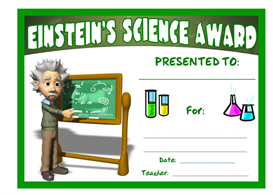 einstein's science award