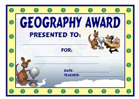 Geography Kangaroo Award | Other Files | Documents and Forms