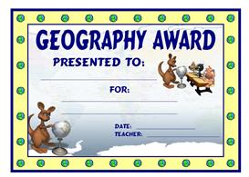 geography kangaroo award