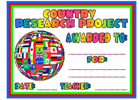 Country Research Project Award | Other Files | Documents and Forms