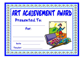 art achievement award