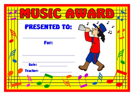 music marching girl award