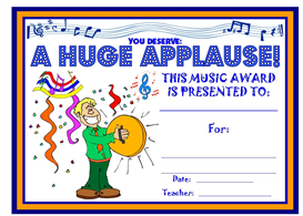 music huge applause award