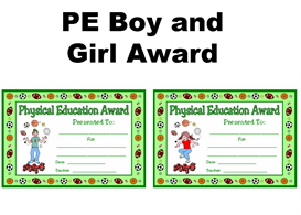 pe boy and girl award