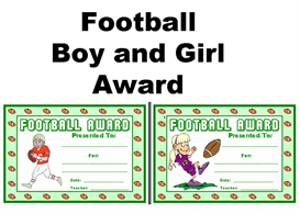 football boy and girl award