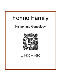 Fenno Family History and Genealogy | eBooks | History