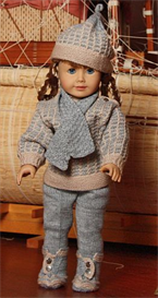 DollKnittingPattern 0035D KIRSTEN - Sweater, Cap, Leggings, Shoes, Scarf, Mittens-(English) | Crafting | Knitting | Other