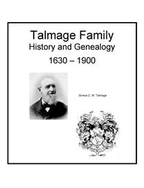 talmage family history and genealogy