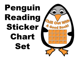 Penguin Reading Sticker Chart Set | Other Files | Documents and Forms