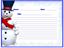 frosty the snowman winter stories stationery set