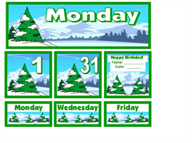 December Tree Calendar Set | Other Files | Documents and Forms