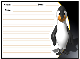 penguin chill out and read our stories stationery set