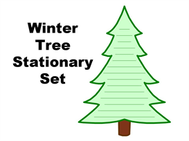 winter tree stationery set