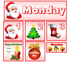 December Christmas Theme Calendar Set   Other Files   Documents and Forms