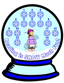 Snow Globe Reading Sticker Chart Set | Other Files | Documents and Forms