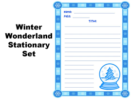 winter wonderland stationery set