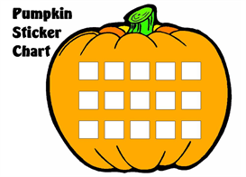 pumpkin sticker chart set