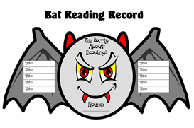 batty about reading sticker chart set