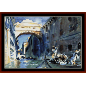bridge of sighs - sargent cross stitch pattern by cross stitch collectibles
