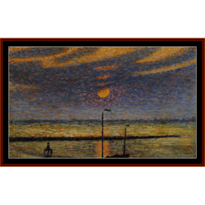 clear night moon - lemmen cross stitch pattern by cross stitch collectibles
