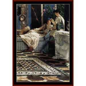 from an absent one - alma tadema cross stitch pattern by cross stitch collectibles