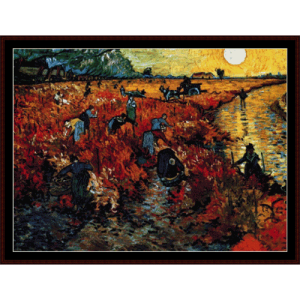 red field at sunset - van gogh cross stitch pattern by cross stitch collectibles