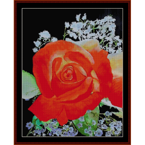 rose redux - floral cross stitch pattern by cross stitch collectibles