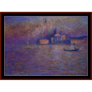 san giorgio maggiore - monet cross stitch pattern by cross stitch collectibles