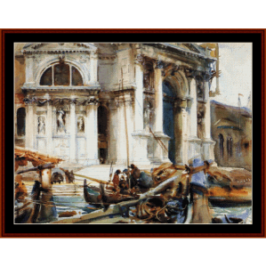 santa maria della salute - sargent cross stitch pattern by cross stitch collectibles